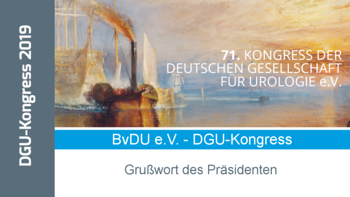 BvDU-Grußwort zum 71. DGU-Kongress in Hamburg