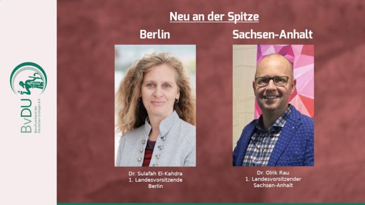 Aus den Landesverbänden: Führungswechsel in Berlin und Sachsen-Anhalt