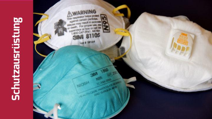 3 verschiedene Atemschutzmasken