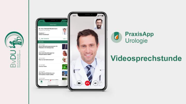 """PraxisApp """"Mein Urologe"""" mit zertifizierter Videosprechstunde für die eigenen Patienten"""
