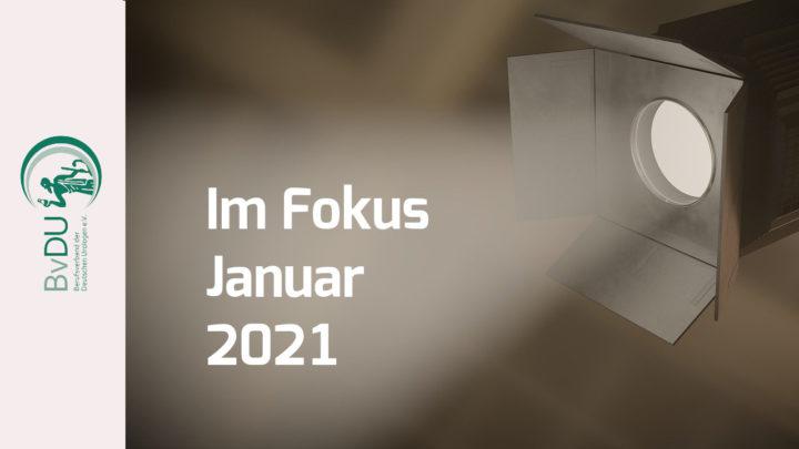 Weichenstellung für 2021