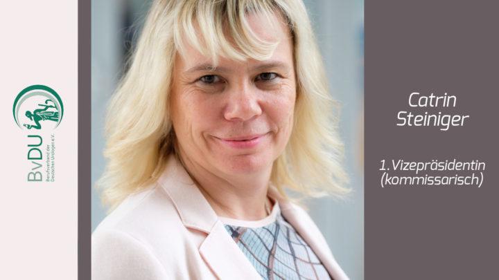 BvDU-Köpfe im Porträt: Catrin Steiniger