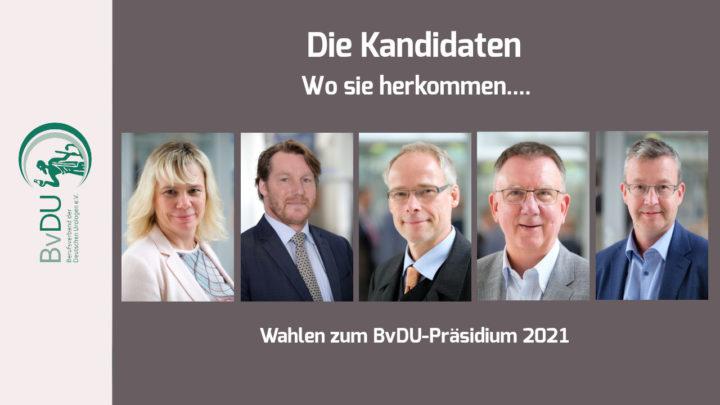 Wahlen zum BvDU-Präsidium – Die zweite Vorstellungsrunde der Kandidaten