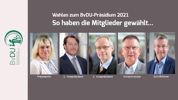 BvDU-Mitglieder wählen neues Präsidium